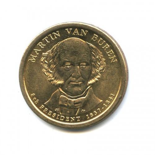 1 доллар — 8-ой Президент США - Мартин Ван Бюрен (1837-1841) 2008 года P (США)