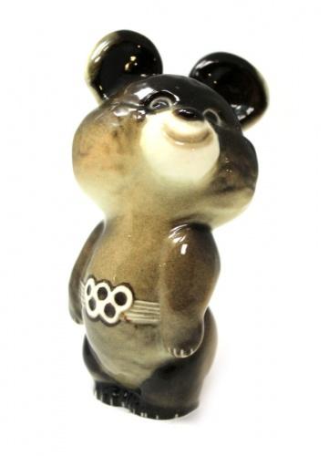 Фигурка ЛФЗ «Олимпийский мишка» (фарфор, 11,5 см) (СССР)
