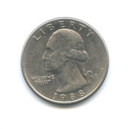 25 центов (квотер) 1988 года P (США)