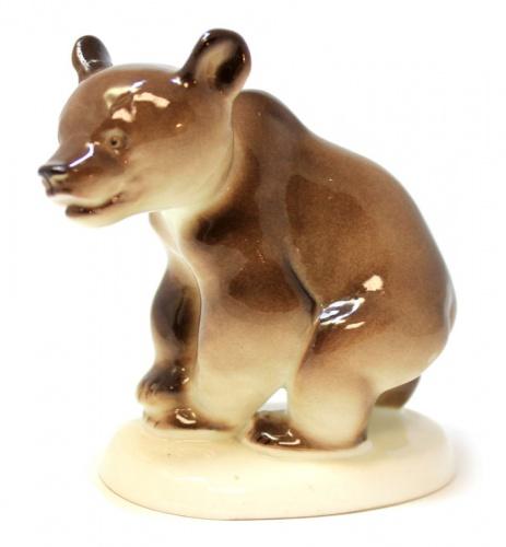 Фигурка «Медведь» (фарфор, клеймо ЛФЗ), 10,5 см (СССР)