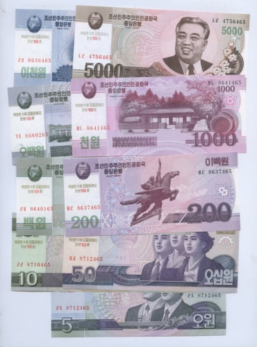 Набор банкнот (Северная Корея) 2008, 2002
