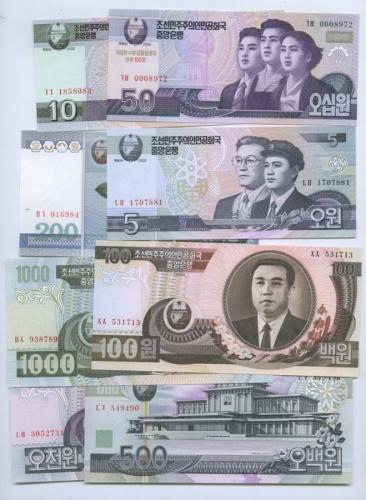Набор банкнот (Северная Корея)