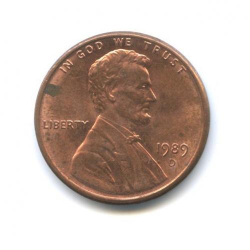 1 цент 1989 года D (США)