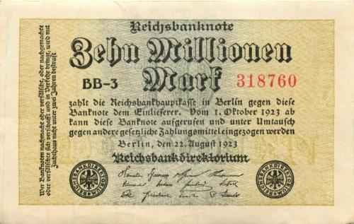 10 миллионов марок 1923 года (Германия)