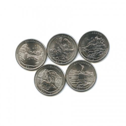 Набор юбилейных монет 25 центов (квотер) 2011, 2012 (США)