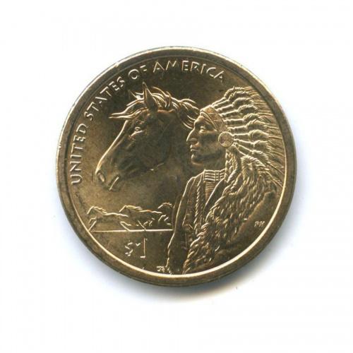 1 доллар — Коренные Американцы - Торговые пути 17 века 2012 года D (США)