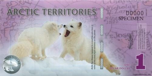 1 доллар (Арктические территории) 2012 года