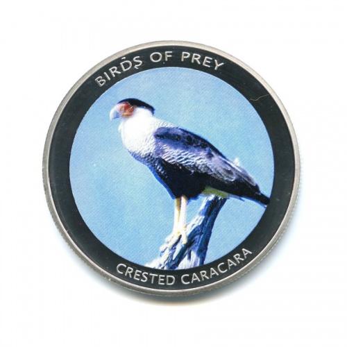 10 квача - Хищные птицы - Северная каракара, Малави (серебрение, вцвете) 2010 года