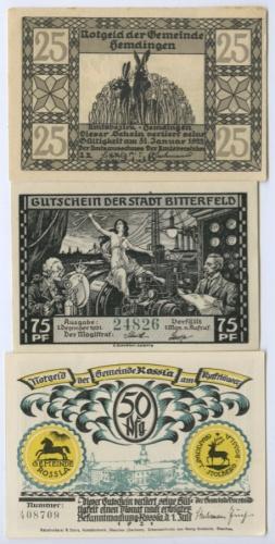 Набор банкнот (нотгельд) 1921, 1922 (Германия)
