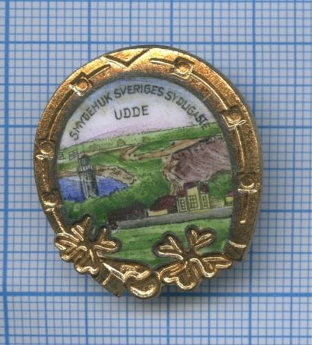 Знак «Smygehuk Sveriges Sydligaste UDDE» (эмаль) (Швеция)