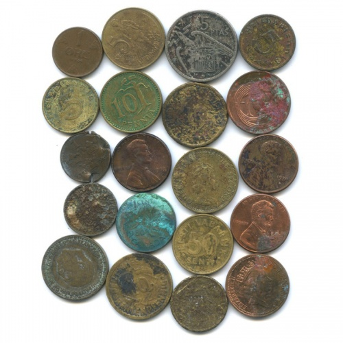 Набор монет - разные страны (20 шт.)
