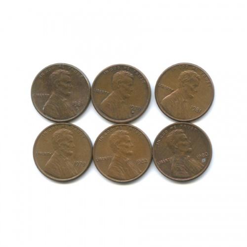 Набор монет 1 цент 1979-1982 (США)