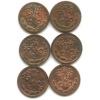 Набор монет 1/4 копейки 1898-1900 СПБ (Российская Империя)
