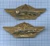 Набор нагрудных знаков «Классность танкиста» (2-й и3-й класс) (СССР)