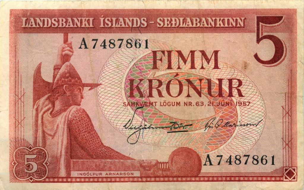 5 крон 1957 года (Исландия)