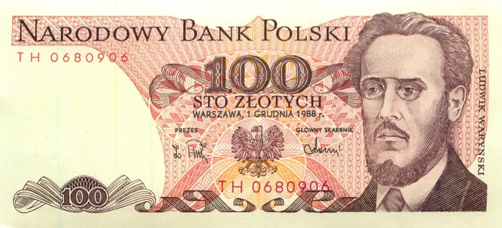 100 злотых 1988 года (Польша)
