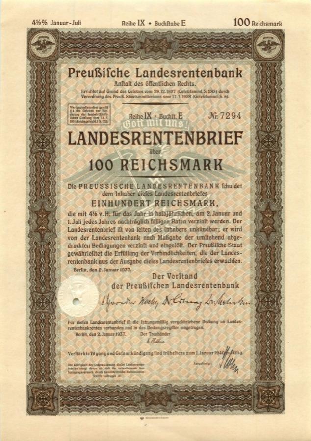100 рейхсмарок 1940 года (Германия (Третий рейх))