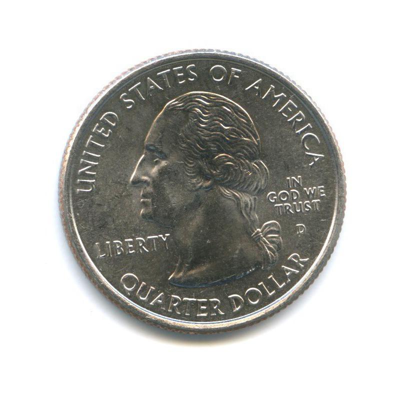 25 центов (квотер) — Квотер штата Индиана 2002 года D (США)