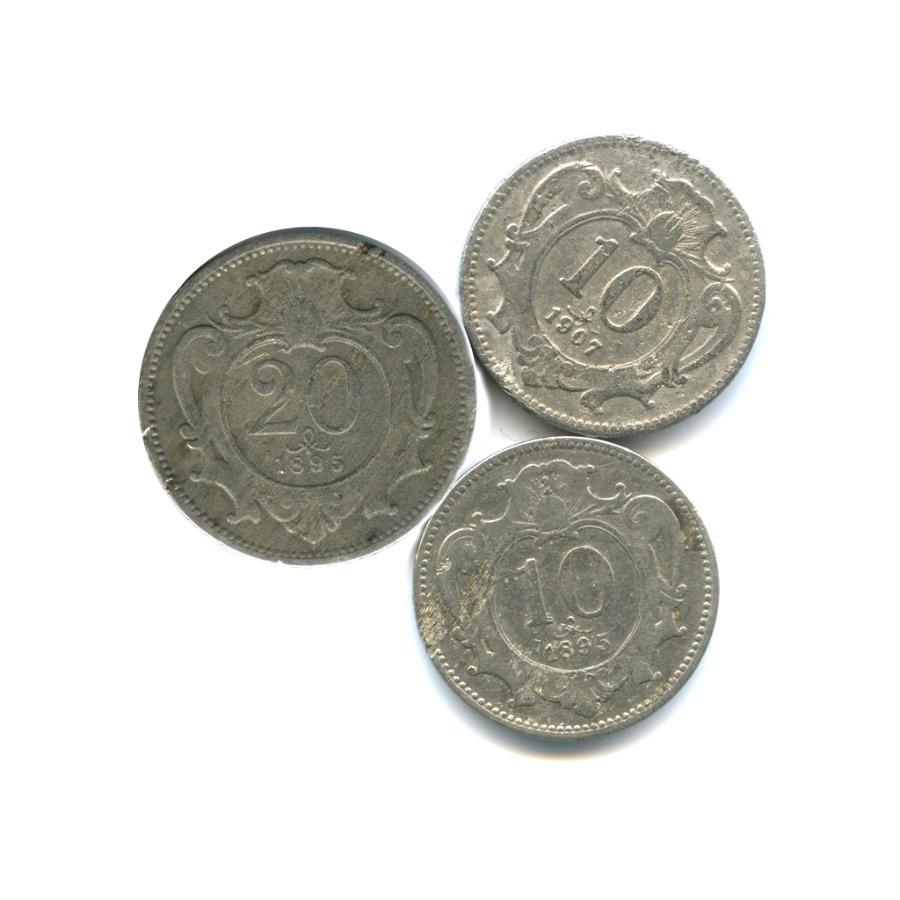 Набор монет, Австро-Венгрия 1895, 1907