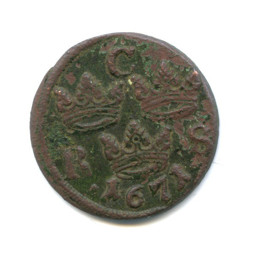 1/6 эре 1671 года (Швеция)