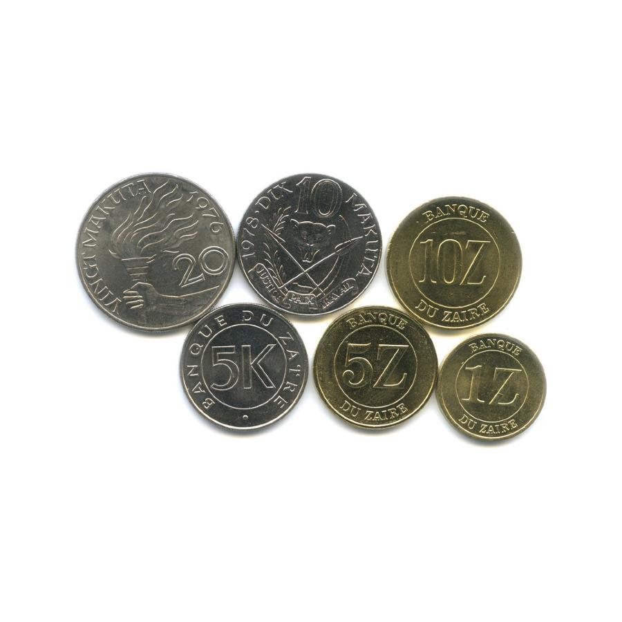 Набор монет - Заир