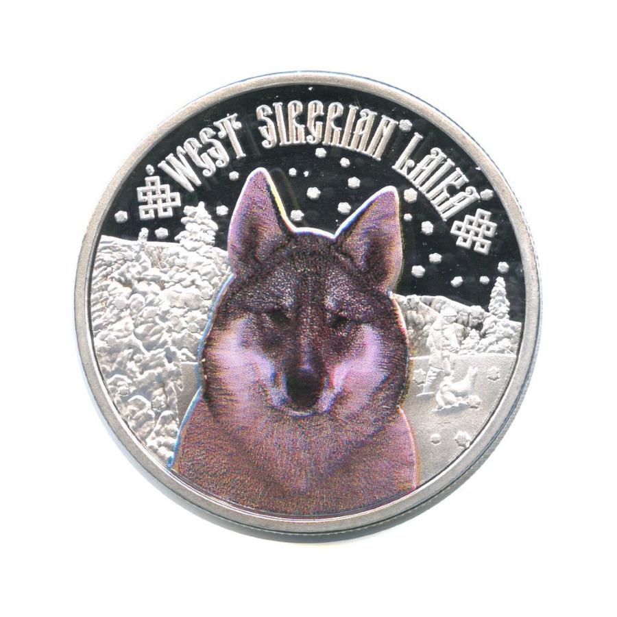 2 доллара - Западносибирская лайка, Ниуэ, серебрение 2014 года