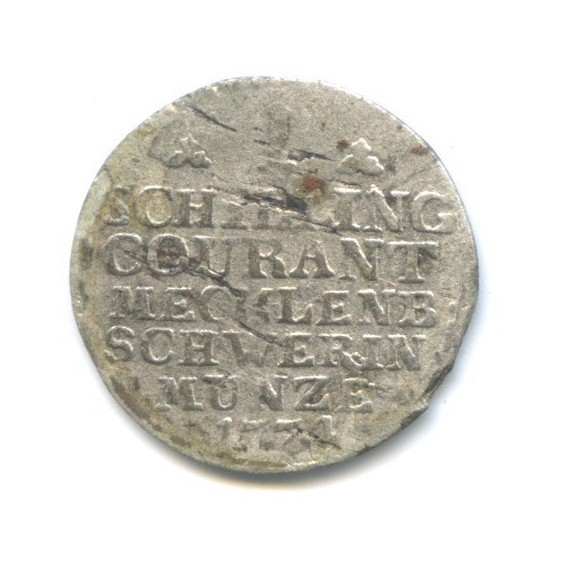 1 шиллинг, Мекленбург-Шверин 1774 года
