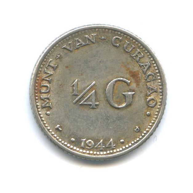 1/4 гульдена - Кюрасао 1944 года