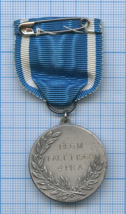 Медаль «Kungliga Gotlands Regementes Idrottsklubb» 1968 года (Швеция)