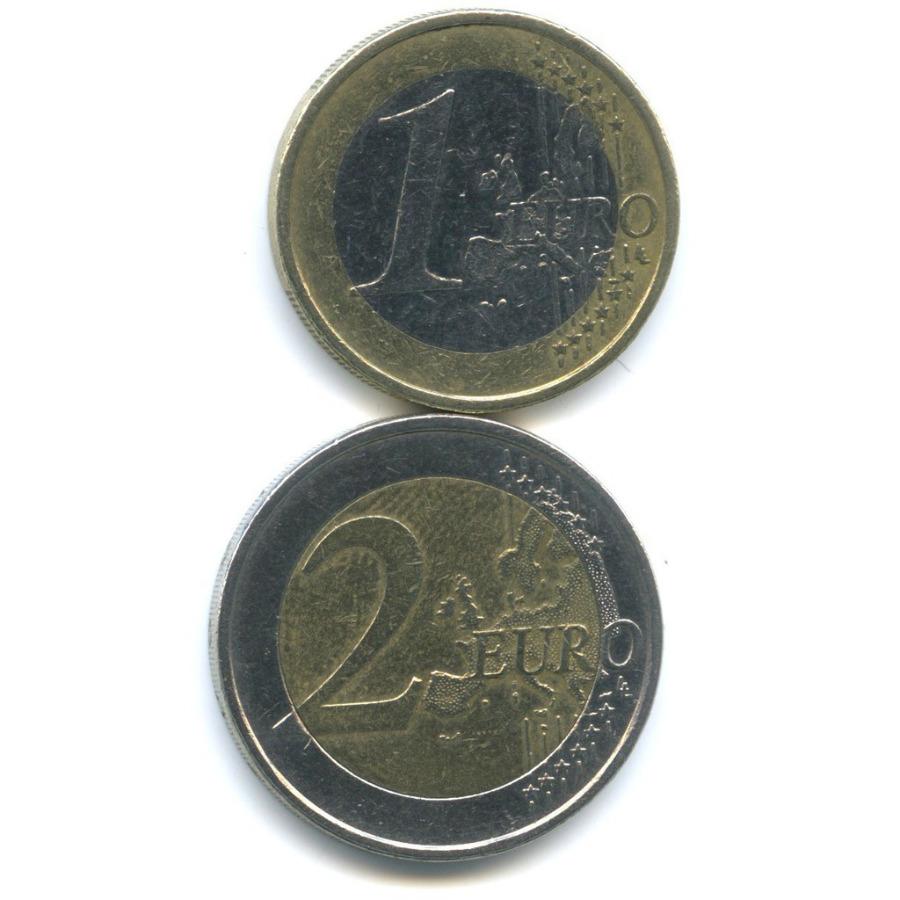 Набор монет 2002, 2008 (Финляндия)