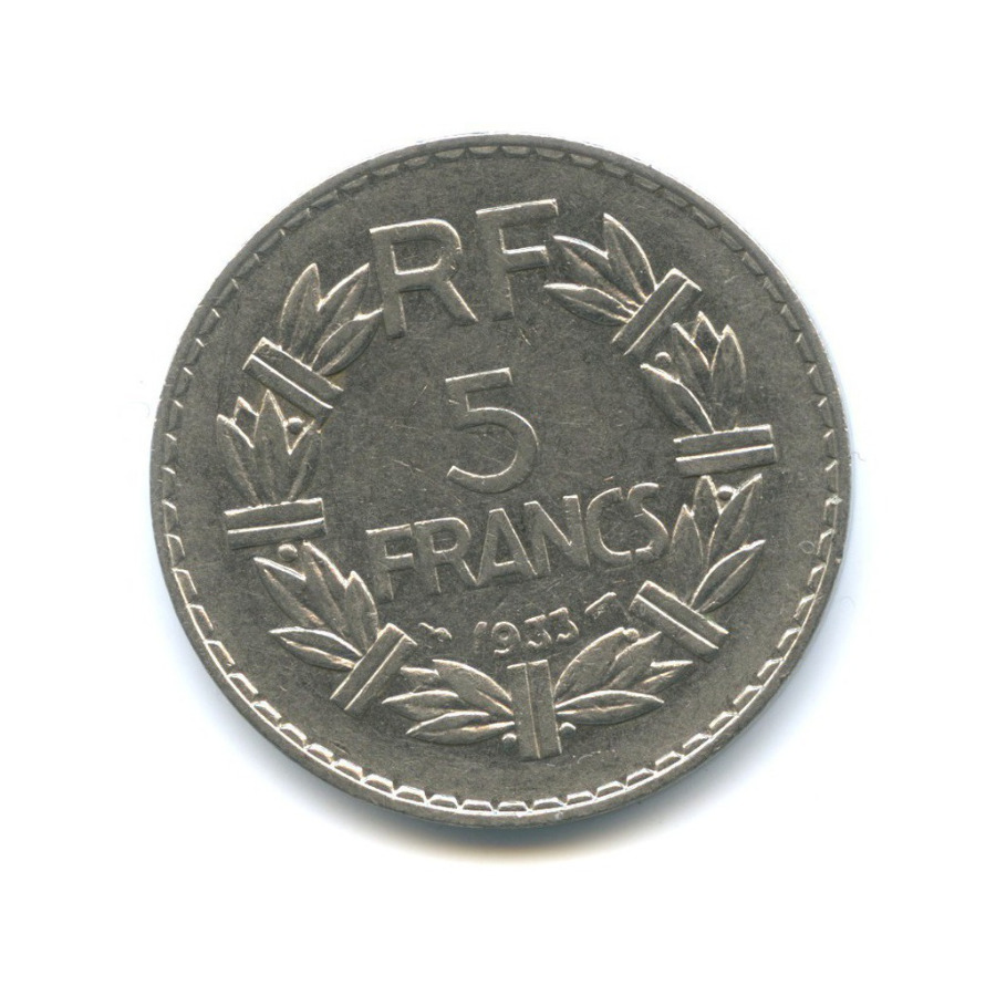 5 франков 1933 года (Франция)