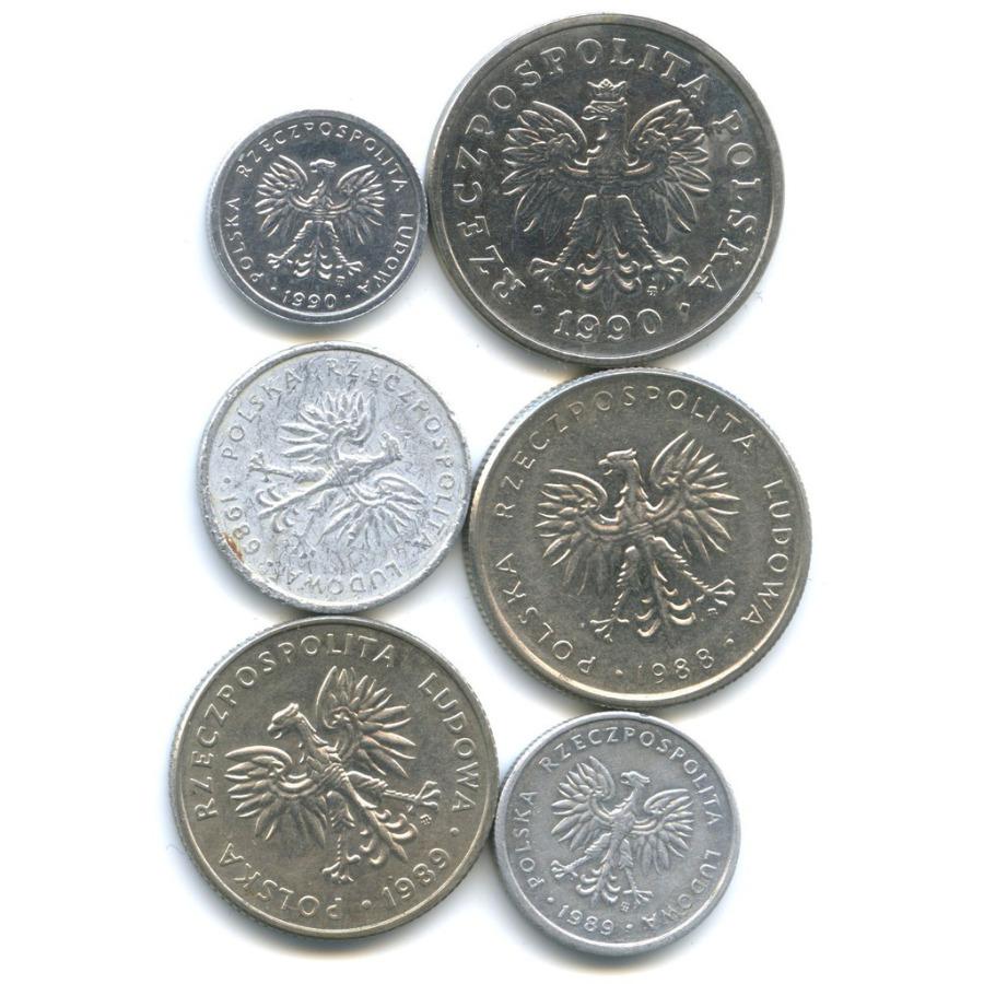 Набор монет 1988-1990 (Польша)