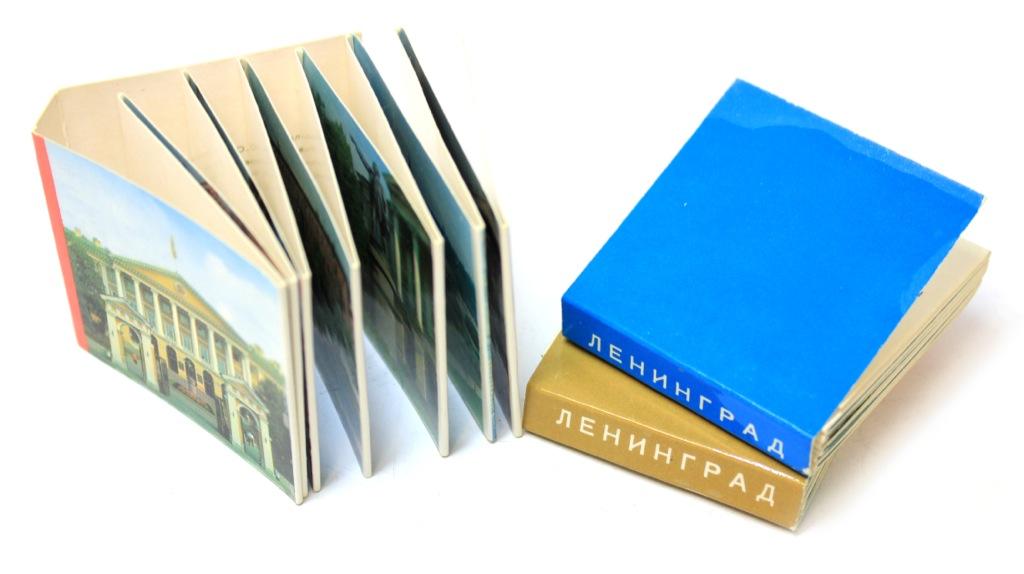 Набор книжек-гармошек «Ленинград» (3 шт.), 5×4,5 см 1971 года (СССР)