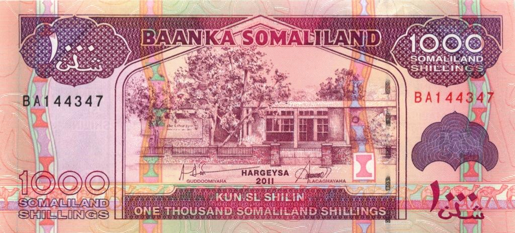 1000 шиллингов (Сомалиленд) 2011 года