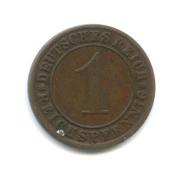 1 рейхспфенниг 1934 года A (Германия)