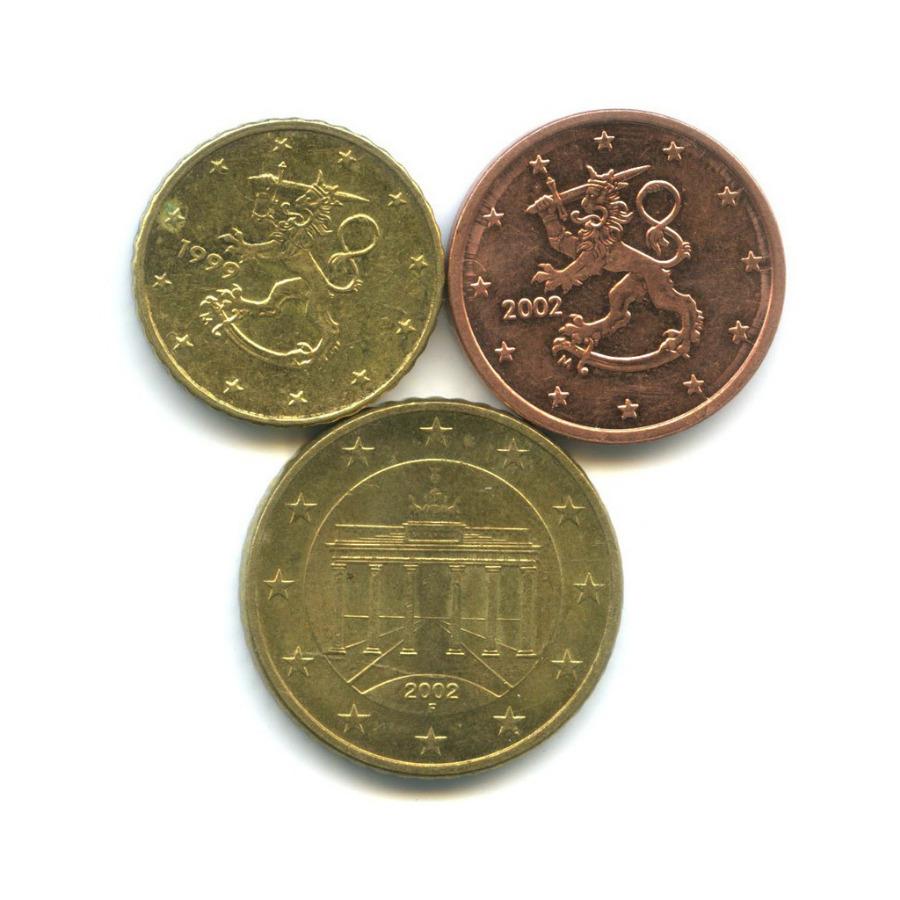 Набор монет (Финляндия, Германия) 1999, 2002