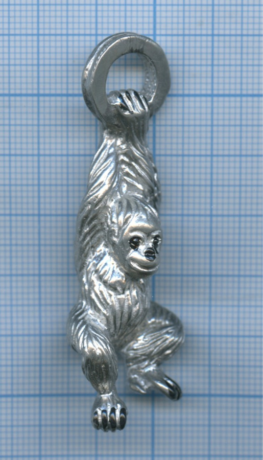 Брелок-подвеска «Обезьяна» (металл)