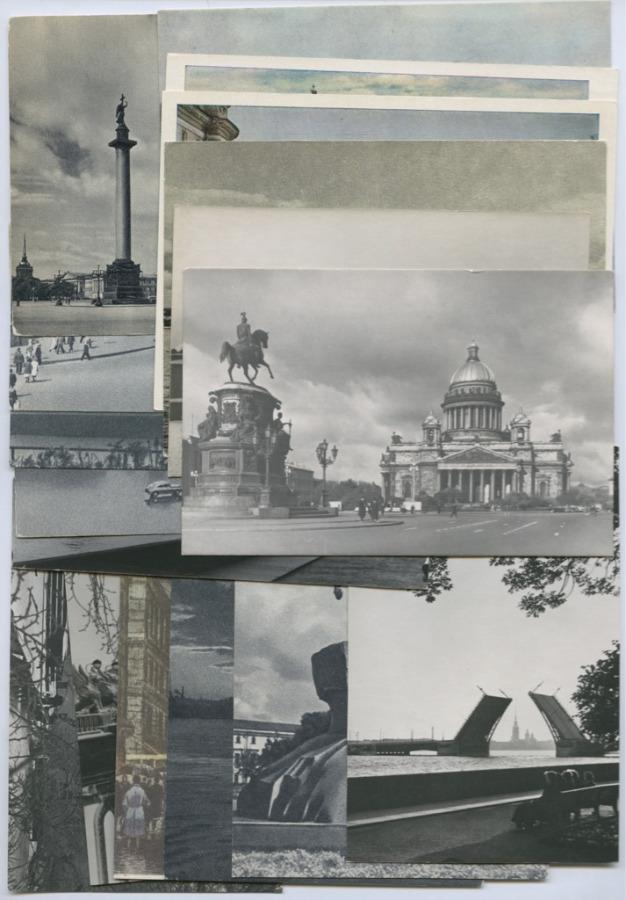 Набор открытых писем «Ленинград», 50-60-е гг., 18 шт (СССР)