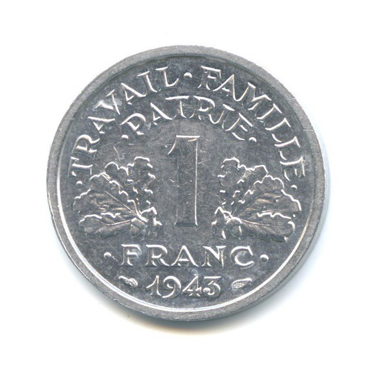 1 франк 1943 года B (Франция)