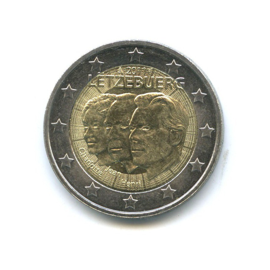 2 евро — 50 лет назначения Великого герцога Люксембурга Жана титулом «lieutenant-représentant» 2011 года (Люксембург)