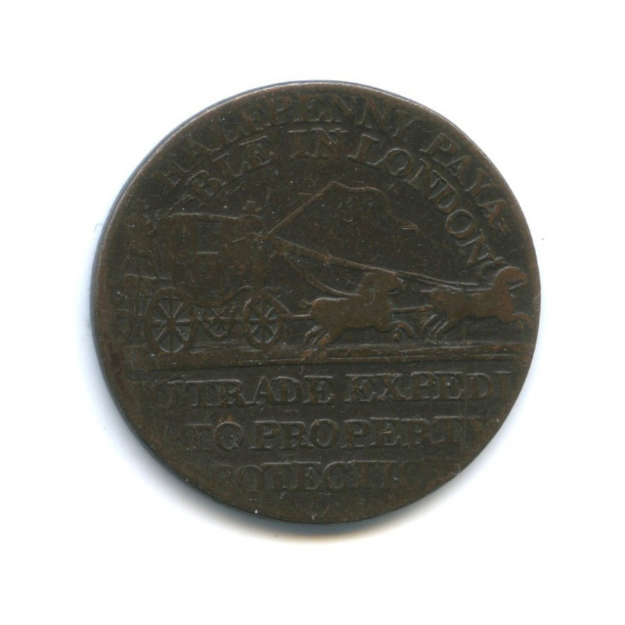 1/2 пенни - Почтовые перевозки (токен) 1797 года (Великобритания)