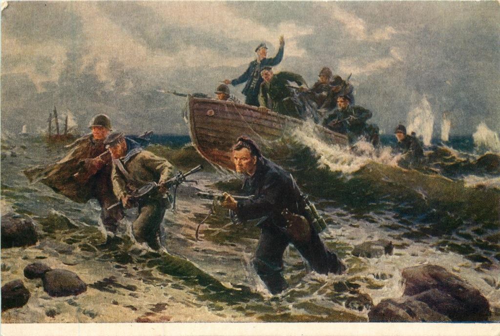 Почтовая карточка «Черноморцы» 1952 года (СССР)
