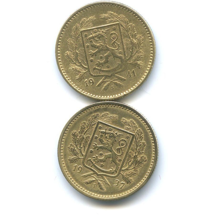 Набор монет 5 марок 1937, 1941 (Финляндия)