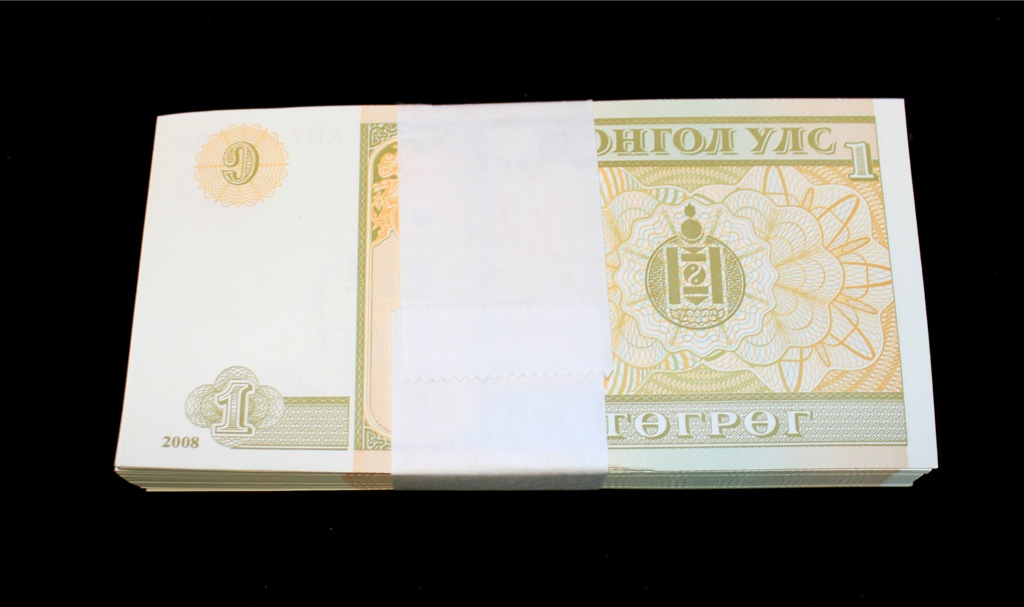 Набор банкнот 1 тугрик 2008 года (Монголия)