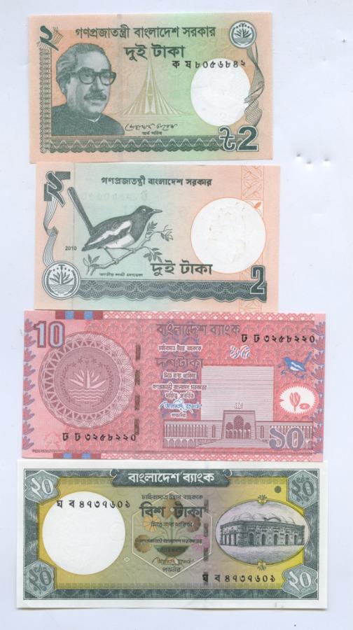 Набор банкнот (Бангладеш) 2010, 2011
