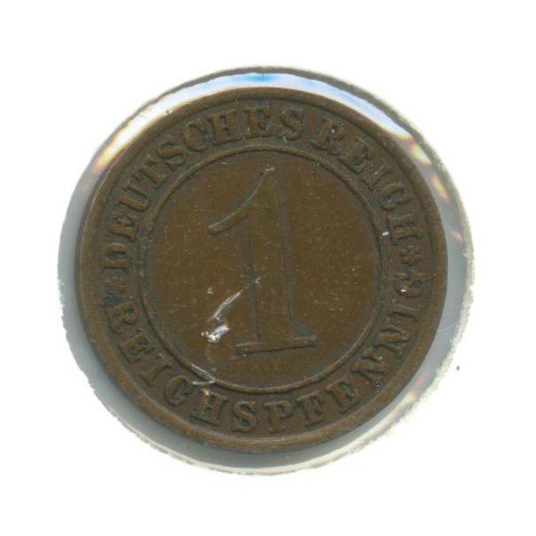 1 рейхспфенниг (вхолдере) 1932 года А (Германия)