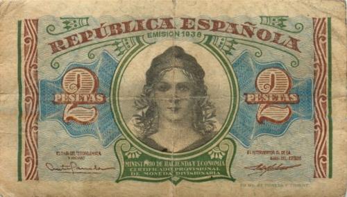 2 песеты 1938 года (Испания)