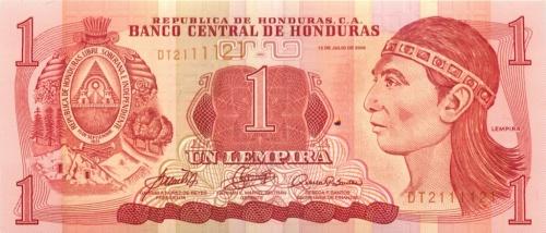 1 лемпира (Гондурас) 2006 года