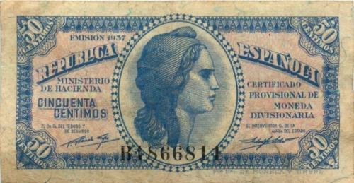 50 сентимо 1937 года (Испания)