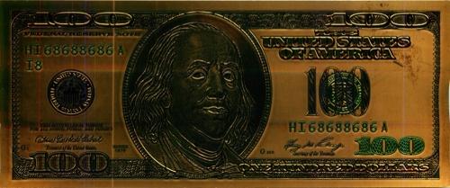 100 долларов - США (сувенирная)
